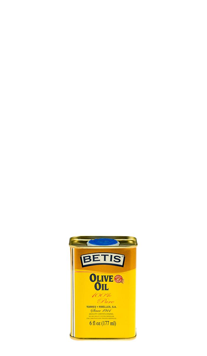 Bandeja de 25 latas de 6 fl oz (177 ml) de aceite de oliva BETIS
