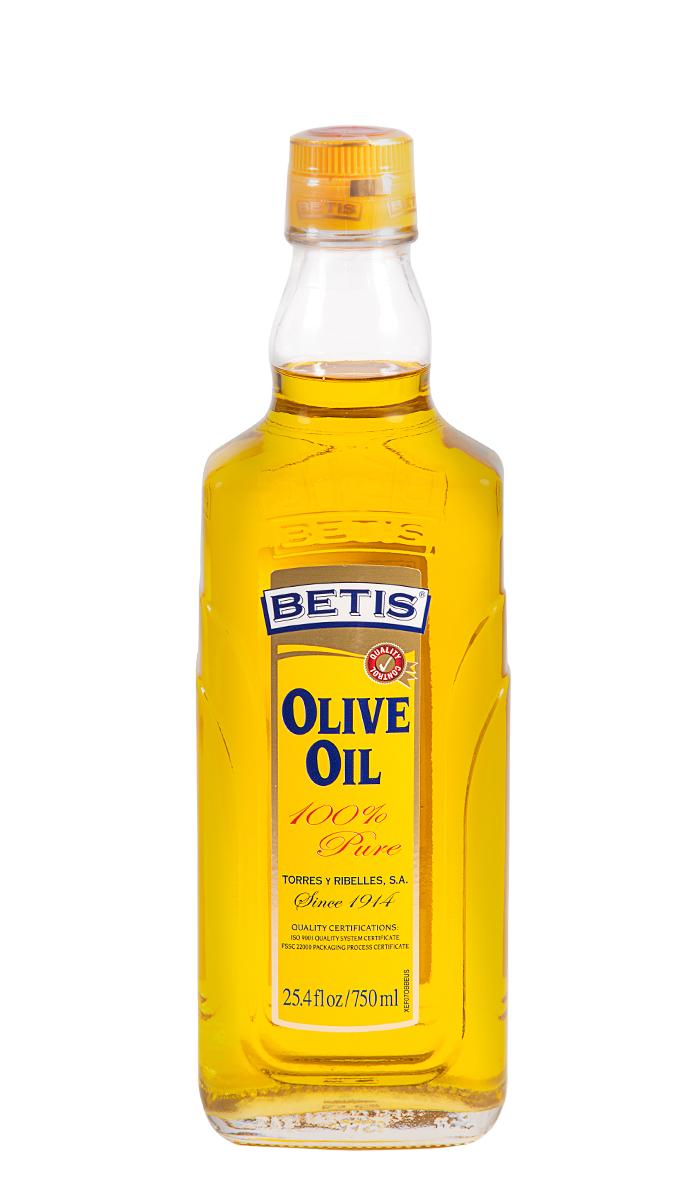 Caja de 12 botellas vidrio de 750 ml de aceite de oliva BETIS