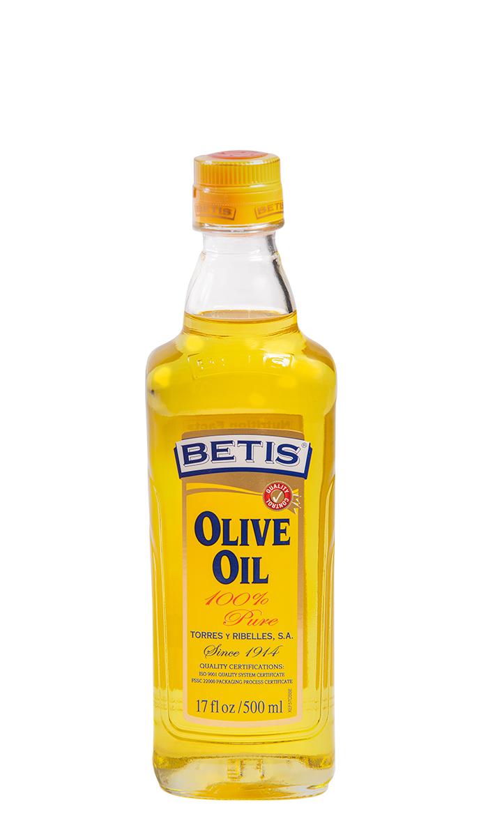 Caja de 12 botellas vidrio de 500 ml de aceite de oliva BETIS
