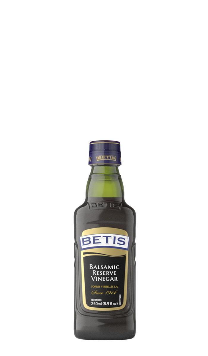 Caja de 12 botellas vidrio de 250 ml de vinagre balsámico BETIS