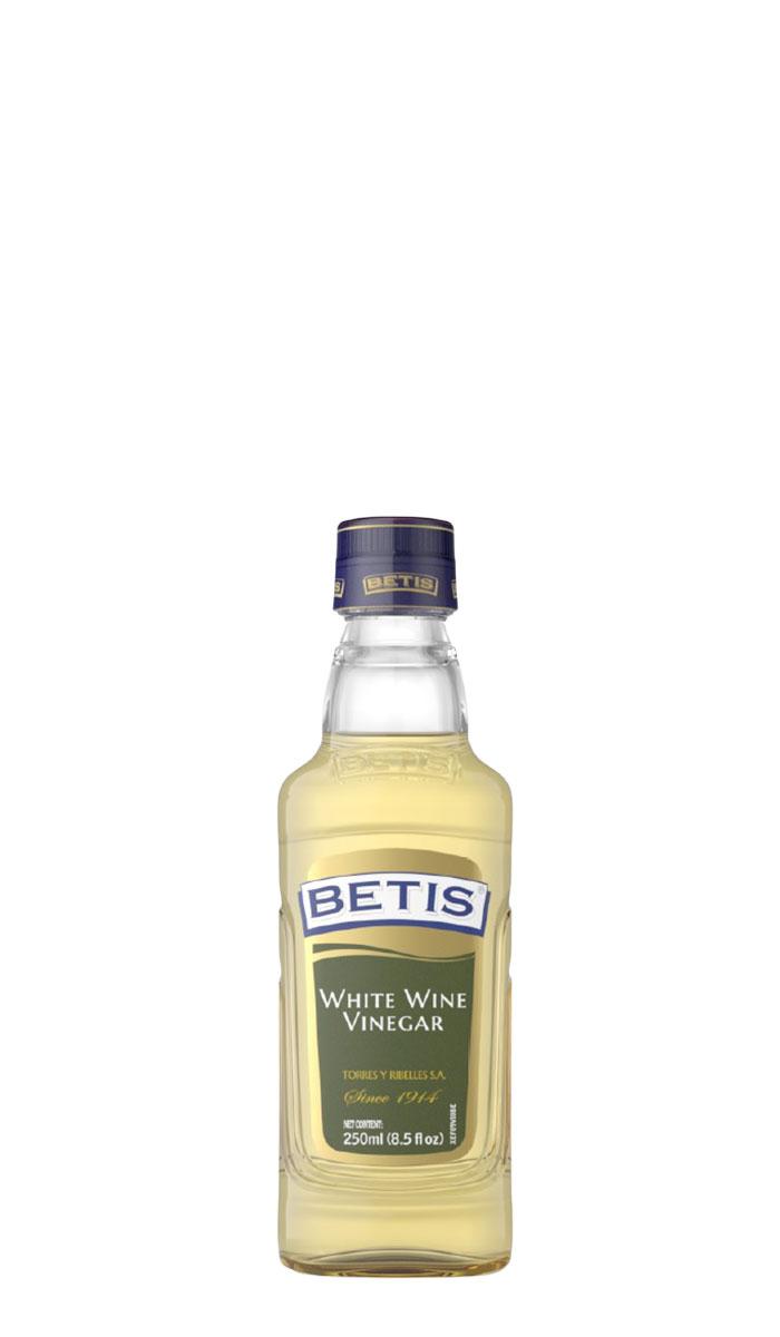 Caja de 12 botellas vidrio de 250 ml de vinagre de vino blanco BETIS