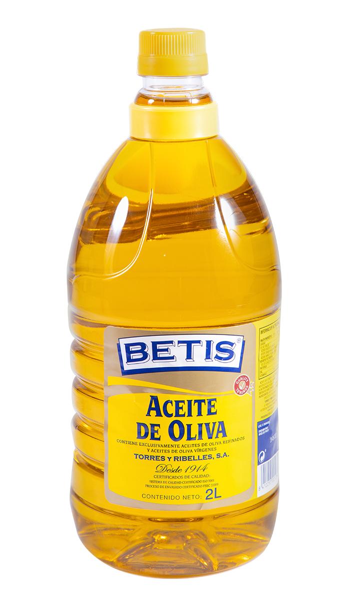 Caja de 6 botellas PET de 2 L de aceite de oliva BETIS