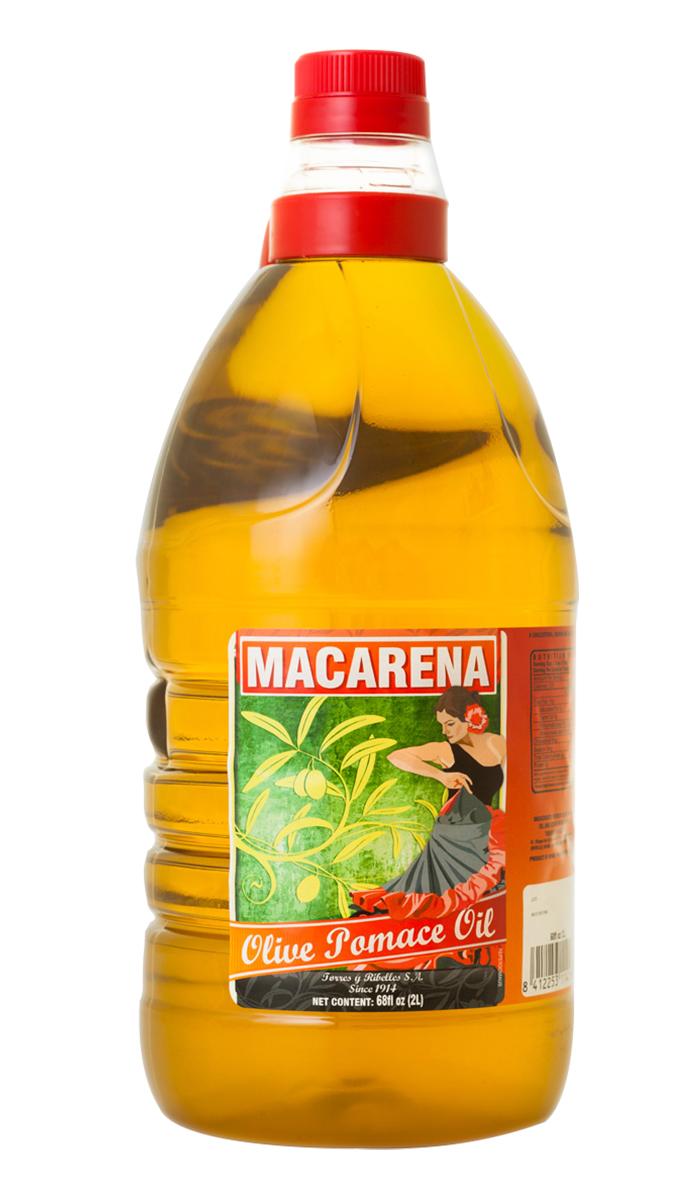 Case of 6 PET bottles of 2 L of MACARENA olive pomace oil