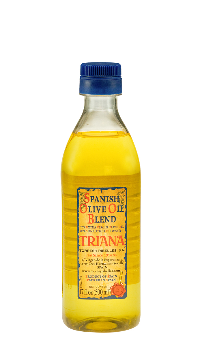 Caja de 12 botellas PET de 500 ml de aceite 'Spanish Olive Oil blend' TRIANA