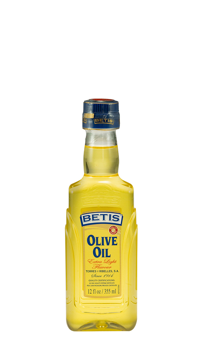 Caja de 12 botellas PET de 12 fl oz (355 ml) de aceite de oliva BETIS