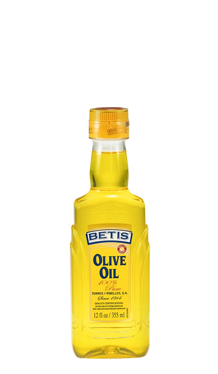 Case of 12 PET bottles of 12 fl oz (355 ml) BETIS olive oil