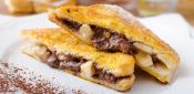 TORRIJAS FILLED WITH PLANTAIN AND CHOCOLATE