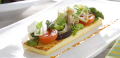 TOAST WITH POLENTA AND VEGETABLES