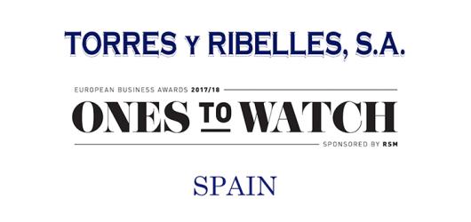 Torres y Ribelles S.A. nominado para 'El Premio a la Expansión Internacional' por los European Business Awards