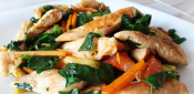 CHICKEN WITH VEGETABLES TO THE EASTERN STYLE