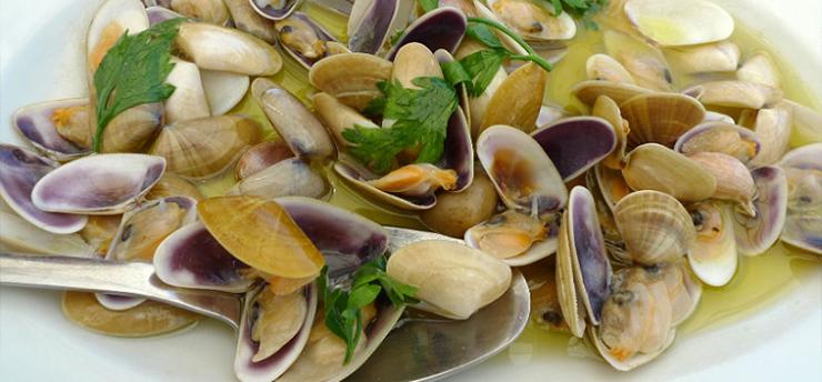 Wedge clams