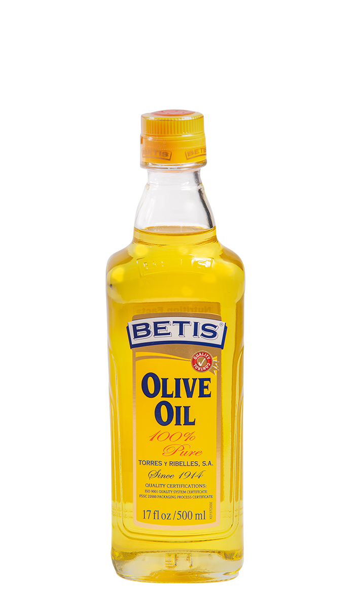 Case of 12 glass bottles of 500 ml of BETIS olive oil