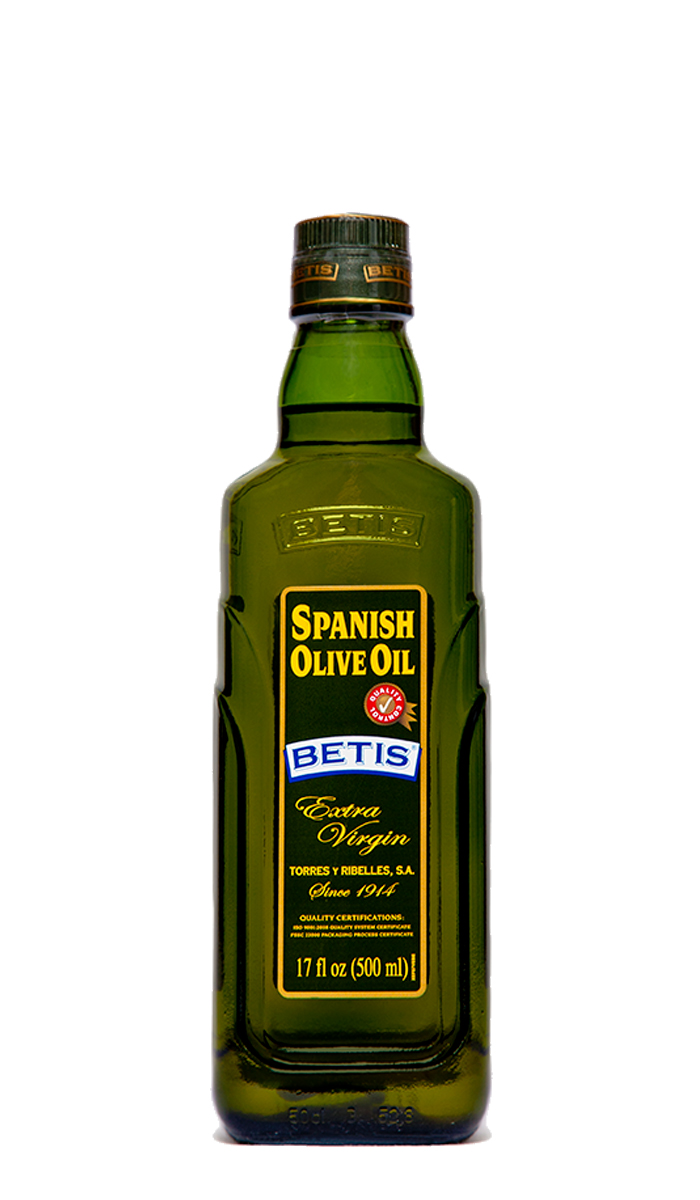 Case of 12 glass bottles of 500 ml of BETIS extra virgin olive oil