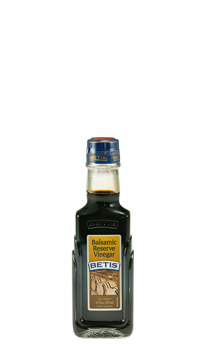 Case of 12 glass bottles of 250 ml of BETIS balsamic vinegar