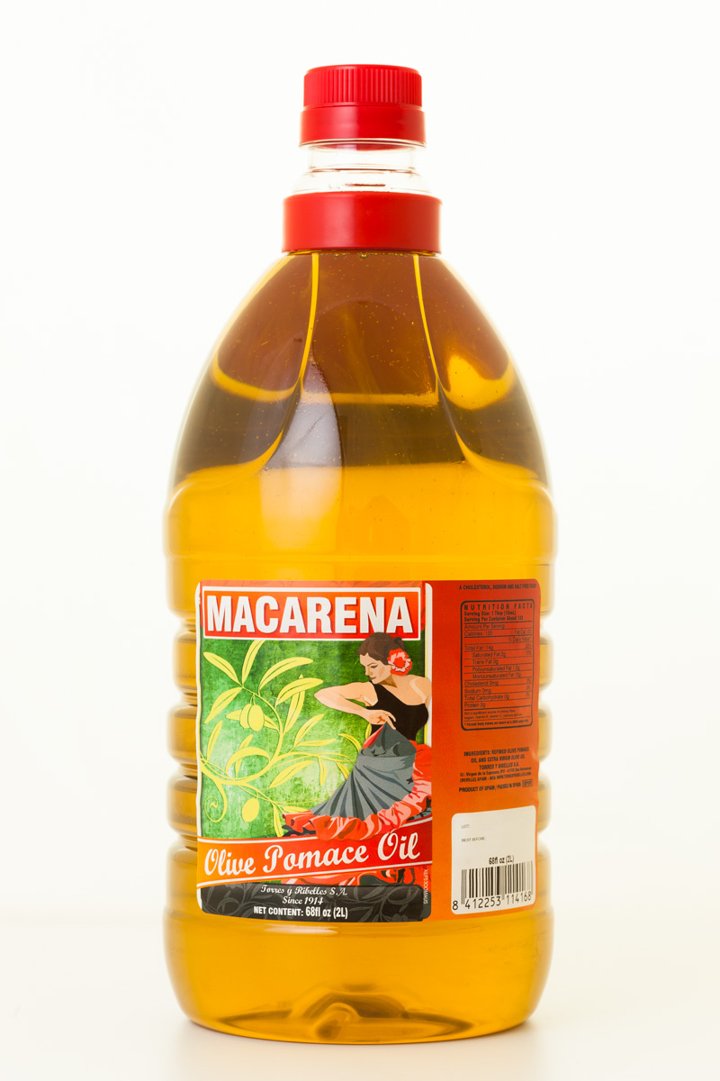 Case of 6 PET bottles of 2 L of MACARENA olive pomace oil