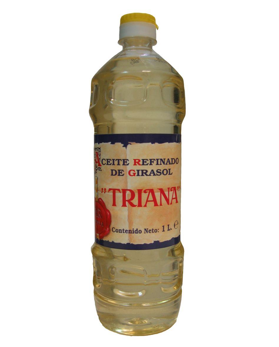 Caja de 15 botellas PET de 1 L de aceite de girasol TRIANA