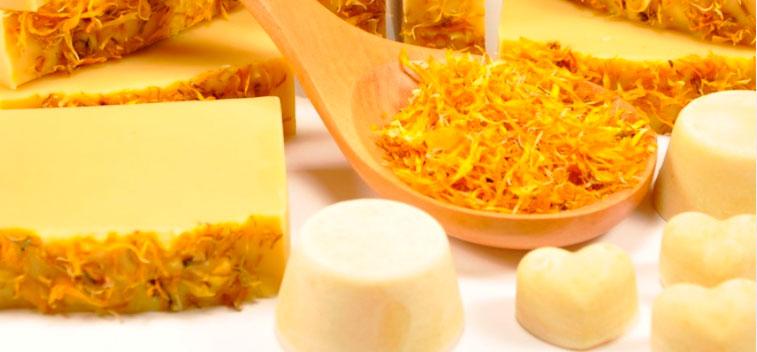 Handmade soaps: chamomile soap