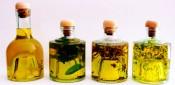 Aceite de oliva virgen extra caseros a las finas hierbas