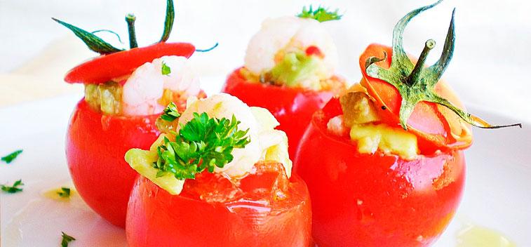 Tomate con salsa de mango - Salsa de tomate y nata ...