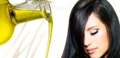 Cabello sano con aceite de oliva