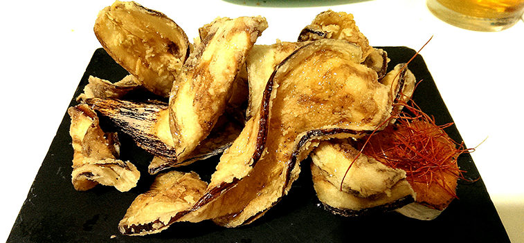 Aubergine Chips With Honey Aceites Betis
