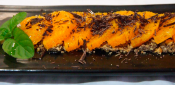 ORANGES WITH CHOCOLATE AND A SPLASH OF OLIVE OIL