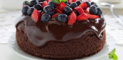 CHOCOLATE SPONGE CAKE WITH OLIVE OIL