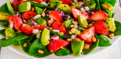 SPINACH, STRAWBERRY AND AVOCADO SALAD