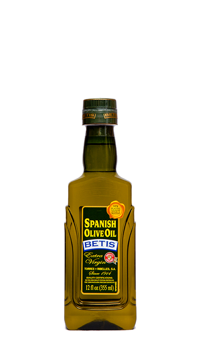 Case of 12 PET bottles of 12 fl. Oz. (355 ml) BETIS Extra Virgin Olive Oil